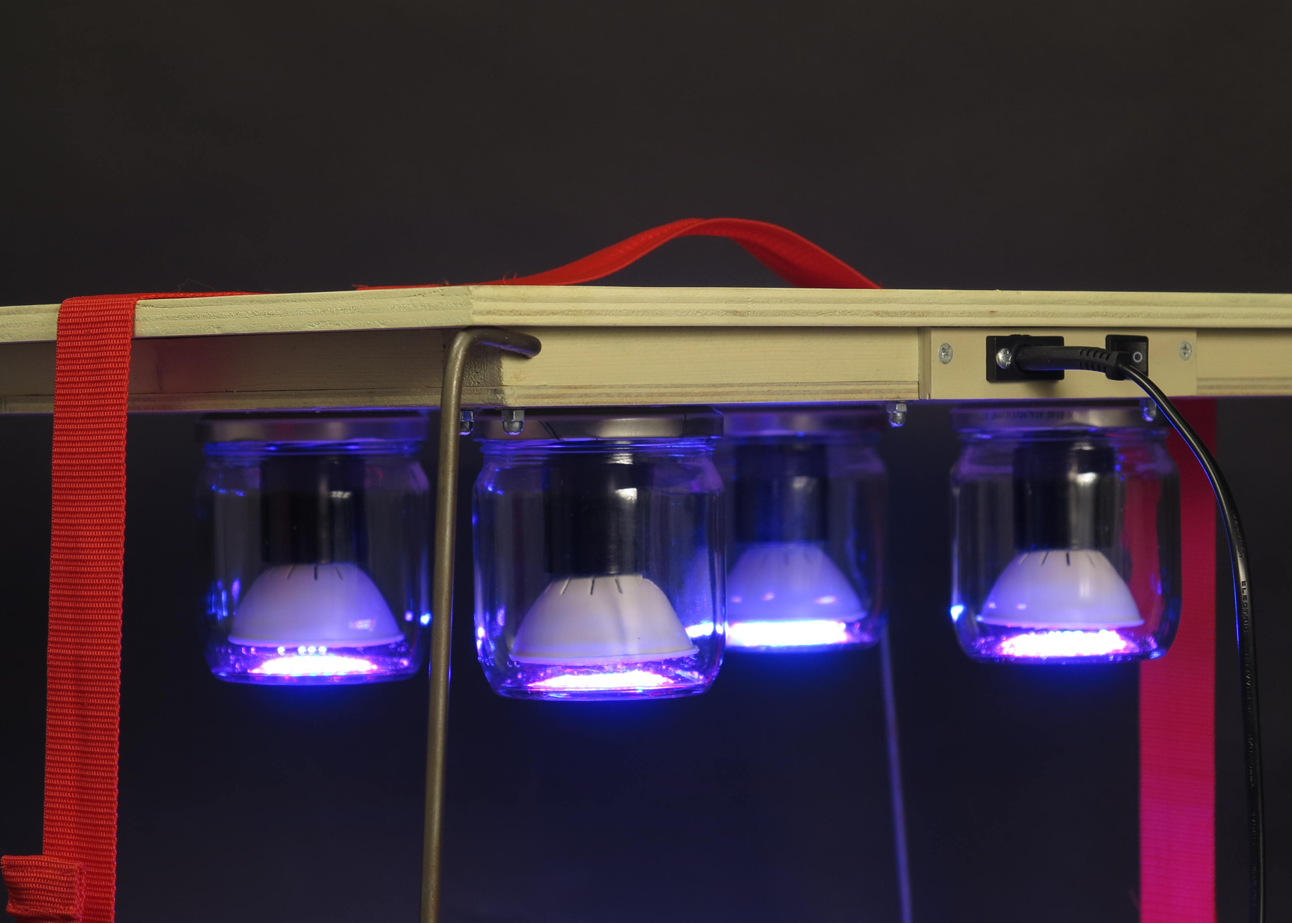 detail van  lampen